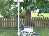 Rollstuhl gut geparkt