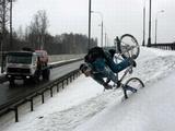 Sturz in den Schnee