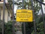 Vorsicht, freilaufender Hund!