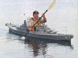 Schlachtschiff mit Paddeln