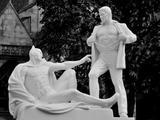Verschreckende Statue
