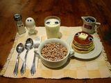 Starrendes Frühstück
