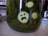 Wütende Gurke