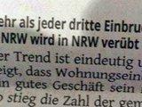 Einbrüche in NRW