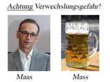 Achtung Verwechslungsgefahr Maas Mass