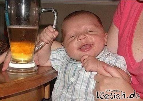 Baby und das Bier