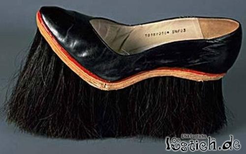 Schuh mit Besen