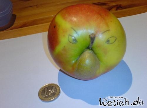 Apfel mit Gesicht