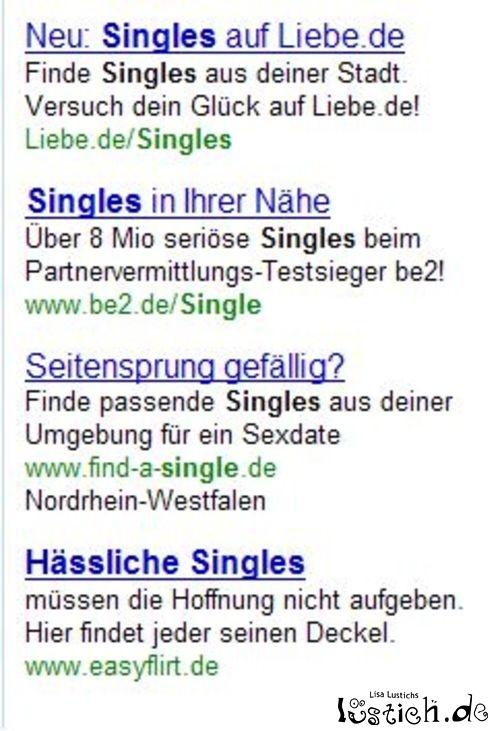 Wer sucht hässliche Singles