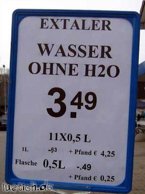 Wasser ohne H2O
