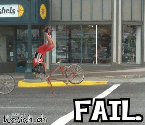 Salto vom Fahrrad