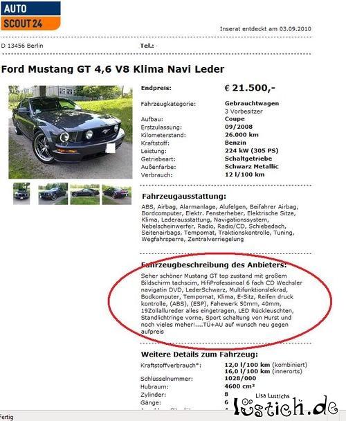 Gutes Deutsch beim Autoverkauf