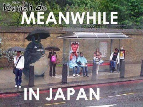 Japaner warten auf den Bus