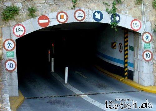 Tunnelschilder