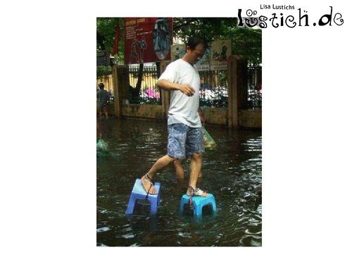 Erfinderisch bei Hochwasser