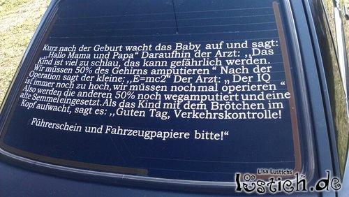 Autoaufkleber-Witz