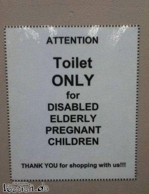 Merkwürdige Toilette