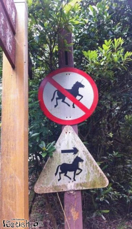 Einhorn verboten
