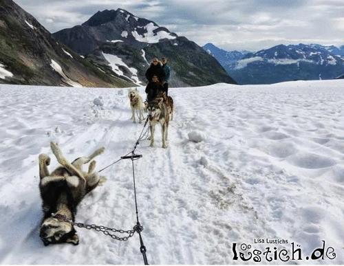 Platter Reifen in Alaska