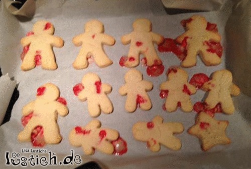 Blutige Kekse