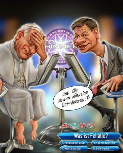 Papst bei Günther Jauch