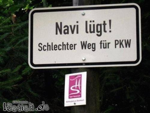 Das Navi lügt!