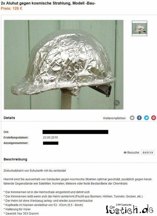 Spezieller Helm