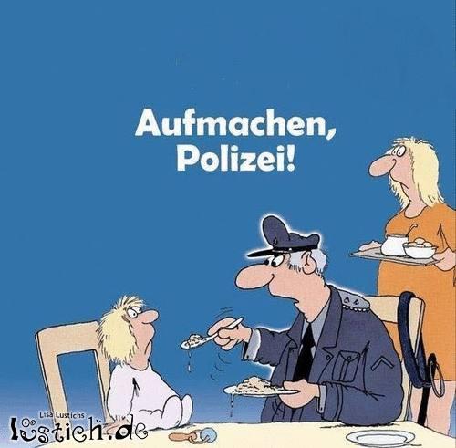 Aufmachen, Polizei