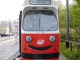 Freundliche Straßenbahn