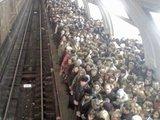 Volle U-Bahnstation