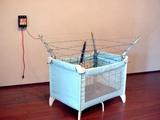 Gesichertes Babybett