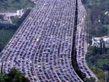 Überfüllte Straßen