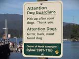 Schild für Hunde