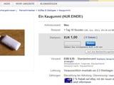 Einzelner Kaugummi zu verkaufen