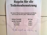 Toilettenregeln