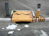 Rauchender Bordstein